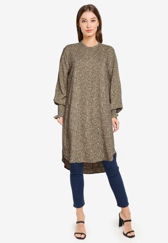 JACQUELINE DE YONG brown Peak Long Sleeve Long Shirt F155DAAE8B3B90GS_1