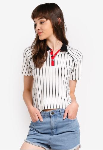 Something Borrowed 白色 條紋T恤 07C9DAA5B52E22GS_1