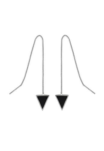 LYCKA 黑色 LDR9001 S925純銀 三角形耳線耳釘 720EBAC2D96FDEGS_1