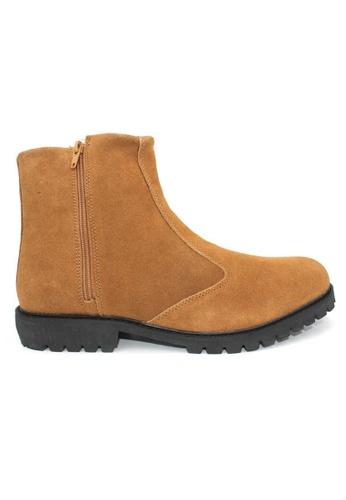 midzone brown Suede Leather High Cut MI949SH0RPBPMY_1