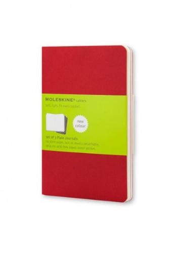Moleskine red Cahier Journals Plain Soft Red Pocket F6BC0HL5571C7DGS_1