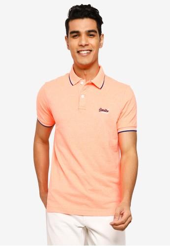 Superdry pink Poolside Pique Short Sleeve Polo Shirt 24ACFAAB0C0EA6GS_1