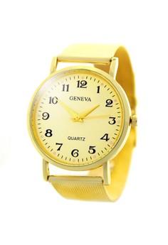 Geneva Dainz Stainless Steel Watch BUS078 (Gold)