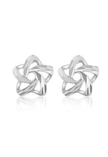 MaBelle silver 14K/585 White Color Gold Gold Star Earrings DB8F3AC8794F0DGS_1