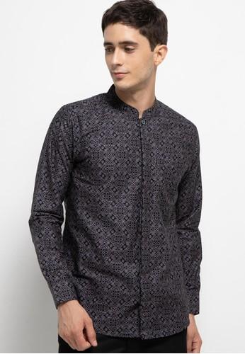 Introspect clothing black Kemeja Batik D0575AAEB6A365GS_1