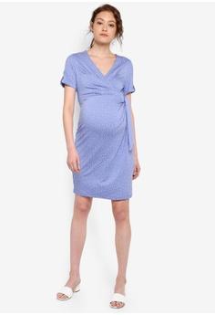 dccbc47766357 Seraphine Renata Maternity Spot Mock Wrap Dress HK$ 719.00. Sizes 10 12 14  16