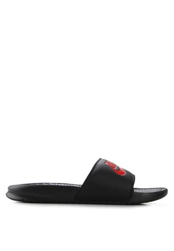 """Nike black Men's Nike Benassi """"Just Do It."""" Sandals CB5DESHC22F5E7GS_1"""