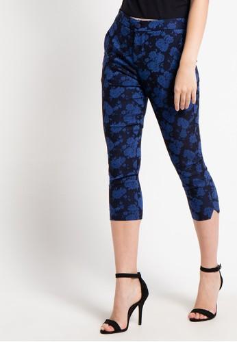 Raspberry navy Jenny Capri Printed Pants RA572AA57QYCID_1