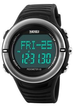 harga Skmei Heart Monitor - Jam Tangan Pria - Black - Rubber Strap - 1111BLK Zalora.co.id