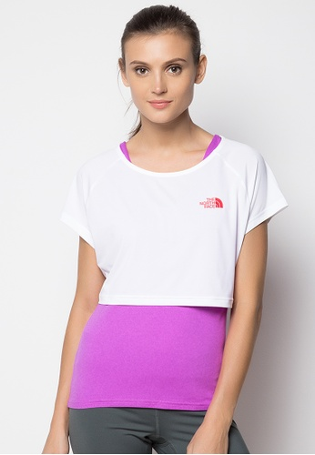 The North Face white Women's Ultra 2-1 Tee TH803AA76ZJJPH_1