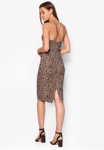 動物紋貼身洋裝esprit台灣outlet, 服飾, 洋裝