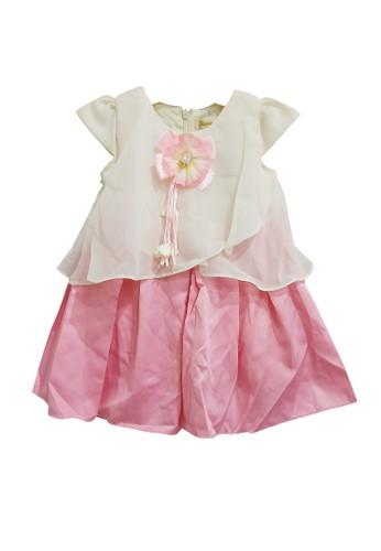 Princessa Flami pink and beige Dress Baby 863 ED816KA7A30BFAGS_1