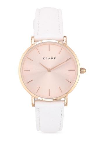 Klarf white Petite Watch With Leather Bracelet D2C9BAC7252489GS_1
