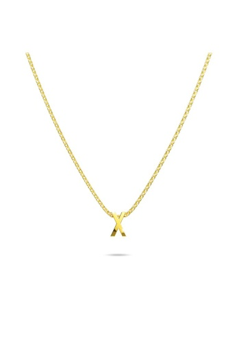 Bullion Gold gold BULLION GOLD Initials Brick Alphabet Letter Necklace Gold Layered Steel Jewellery  - X 7BF07ACC3A3F51GS_1