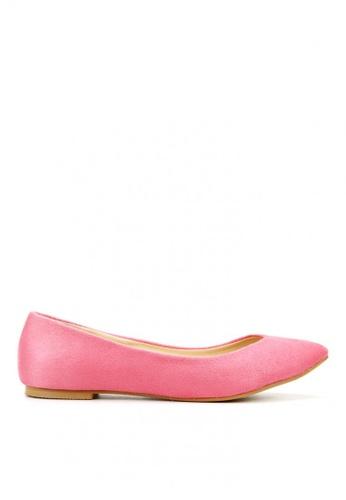 KissXXX pink Classic V-shape Pink Pointed Flats KI688SH2VNDBHK_1