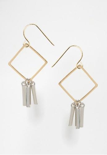 LUCCACAL silver Diamond Stick Earrings LU294AC49GUKMY_1