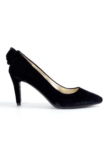 Shu Talk black Cute Bow Velvet High Heels SH397SH0GIGXSG_1