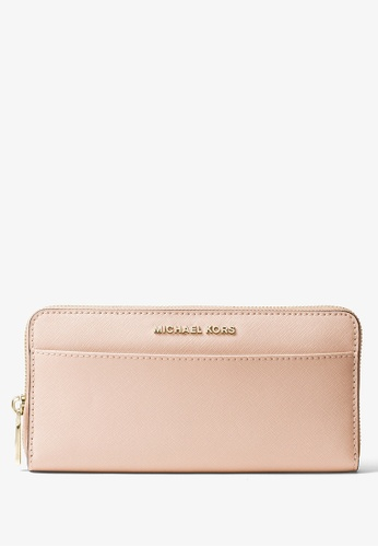 MICHAEL KORS pink Michael Kors Saffiano Leather Continental Wallet - Soft Pink CB554AC5301110GS_1