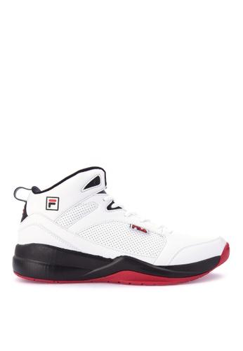 Fila white and multi Bb Guardian Basketball Shoes E28E1SHAA939EFGS_1