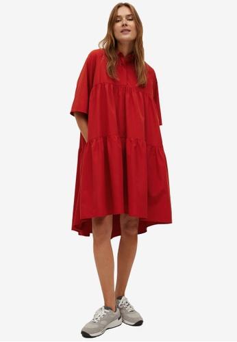 Mango red Oversize Shirt Dress 29560AA07BDDD9GS_1