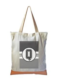 Tote Bag Monochrome Sporty Initial Q