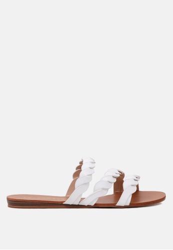 London Rag 白色 编织滑带凉鞋 22171SH37BFD36GS_1