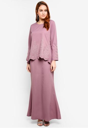 BYN purple Baju Kurung Modern FF25DAAE3504BDGS_1