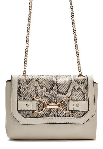 Dorothy Perkins white Snake Snaffle Hardware Crossbody Bag A6E2BACD1F8682GS_1