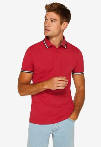 ESPRIT 紅色 Pique Polo 襯衫 F6530AAEF6726DGS_1