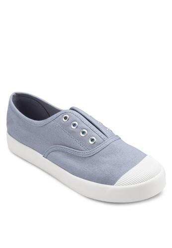 無鞋帶彈性帆布鞋,esprit outlet 桃園 女鞋, 休閒鞋