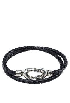 Men's Double Tour Wrap Leather Wristband