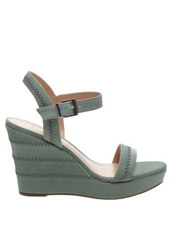 SCHUTZ green Soft Mint Wedge Sandals - BROOKLYN [SOFT MINT] 40DF6SH058FAD6GS_1