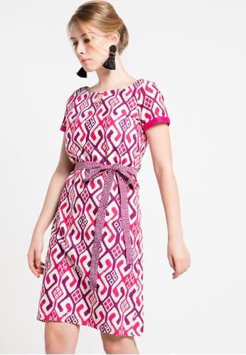 Bateeq pink Short Sleeve Cotton Cap Dress BA656AA61ZTUID_1