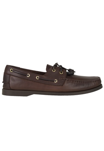 Tomaz brown Tomaz C328 Leather Boat Shoes (Coffee) 3C249SH277EE41GS_1