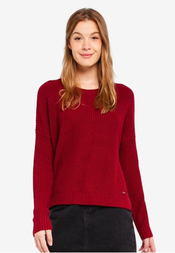 Hollister red Core Shaker Crew Sweater 65135AA4218C36GS_1