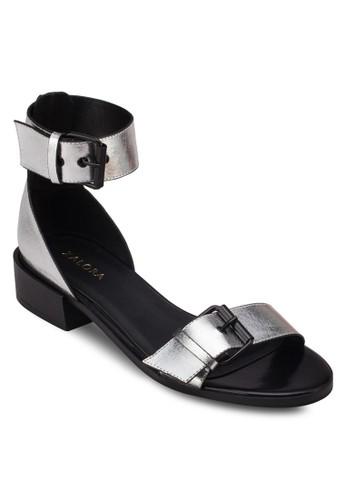 雙扣環繞踝平底涼鞋, 女鞋,zalora 心得 鞋