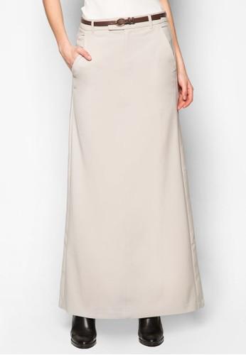 腰帶A字長裙, mango 服飾服飾, 裙子