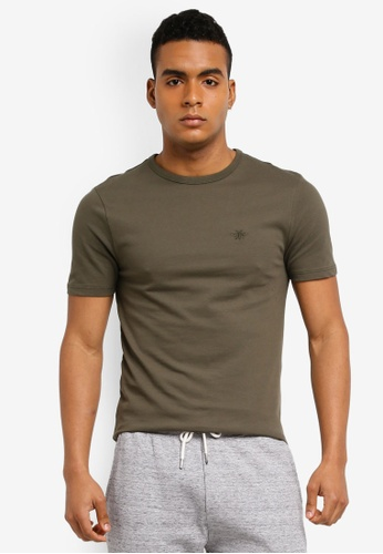 River Island green Muscle Pique Tee BE05FAA68E40E2GS_1