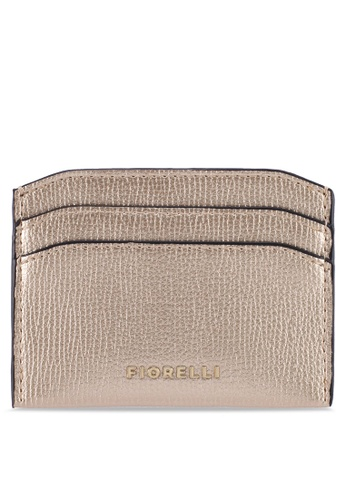 Fiorelli gold Hillary Metallic Grain Card Case 9A930ACEA9292BGS_1