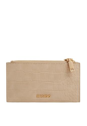 Mango brown Croc-Effect Wallet BBC76ACC9AD875GS_1