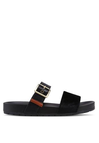 Bata 黑色 絲絨繞帶涼鞋 D2A14SHEC69B47GS_1