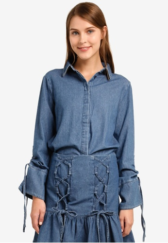 The Fifth Label blue Capricorn Shirt TH664AA0SF8HMY_1