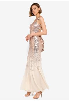 6c076652070 37% OFF Goddiva Criss Cross Back Sequin Maxi Dress S  170.90 NOW S  106.90  Sizes 8 10 12 14