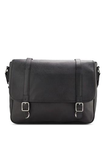 MANGO Man black Buckle Messenger Bag MA449AC29ZXEMY_1