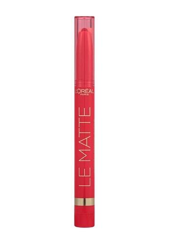L'Oréal Paris red L'oreal Paris Le Matte 106 Mad For Matte - Red C686DBEACA4B58GS_1