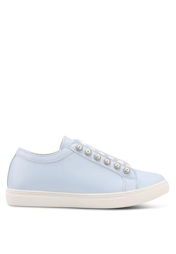 Velvet blue Pearl Eyelet Sneakers E96CFSH0FB2B60GS_1