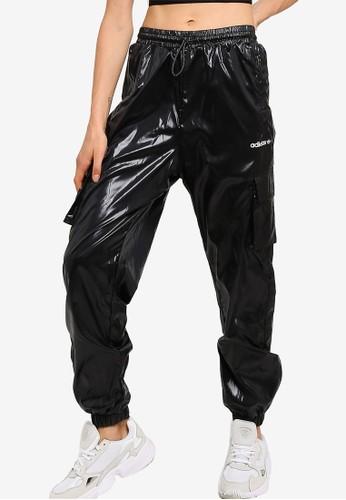 ADIDAS black adidas originals shiny pants 35C2DAAFA12458GS_1