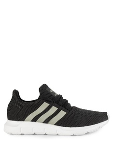 adidas black adidas originals swift run sneakers 6D1E6SH9F1A5F1GS 1 503c8b7675