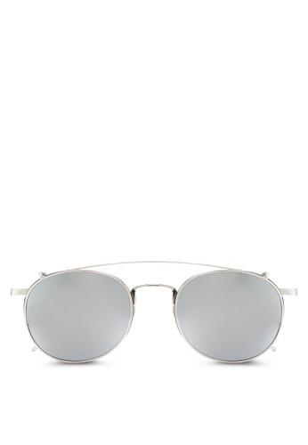 雙鏡橋金屬框太陽眼鏡, 飾品配件, 飾esprit 會員品配件