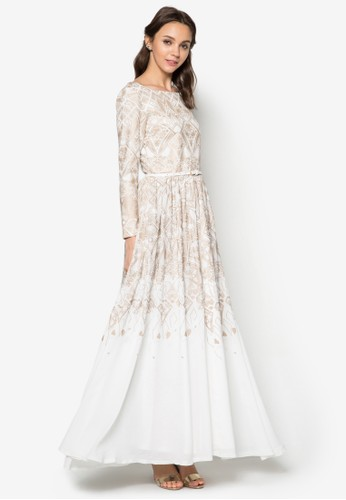 Geometric Foil Pzalora 心得 pttrint Dress, 服飾, 服飾